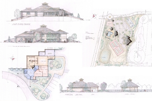 A green, sustainable land planning and building design for a new Recreation Center.