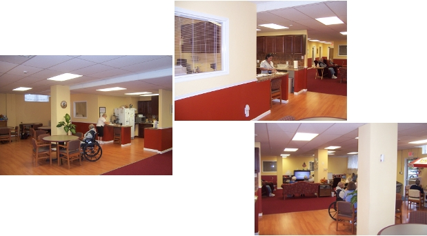 Adult day care renovations to create activity and support spaces for senior adults.