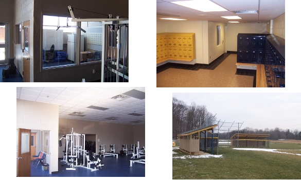 Renovations to existing physical education facillities. Included redesigned locker rooms, offices, training, team and fitness rooms.