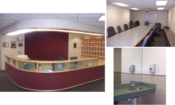 Renovations of school district administration offices.
